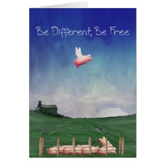 Be Different, Be Free Greeting Card
