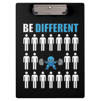 Be Different - Kawaii Anime Bodybuilding Workout Clipboard