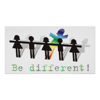 Be different! poster