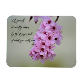 Be Drawn By What You Love Cherry Blossom Rectangular Photo Magnet