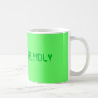 """""""Be eco-friendly"""" Basic White Mug"""