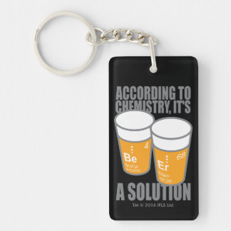 BE-ER Double-Sided RECTANGULAR ACRYLIC KEY RING
