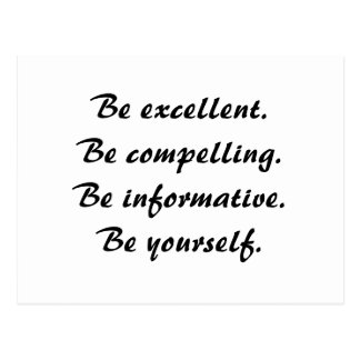 Be Excellent Post Card