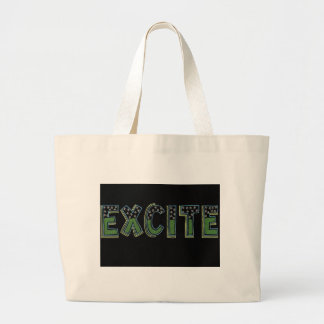 Be excite large tote bag