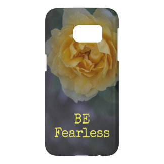 Be Fearless Yellow Rose Samsung Galaxy Case