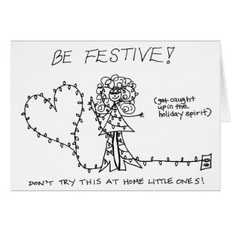 Be Festive Card - Color yourself!