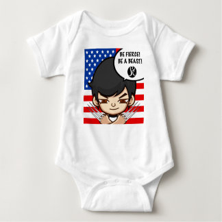 Be fierce baby clothes baby bodysuit