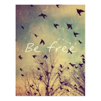 Be Free Inspirational Postcard