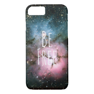 Be free nebula stars galaxy hipster geek space iPhone 8/7 case