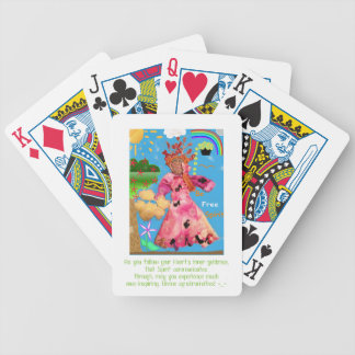 """Be Free Spirit!"" Playing Cards"