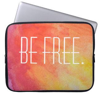 Be Free Tie Dye Laptop Sleeve. Laptop Sleeve