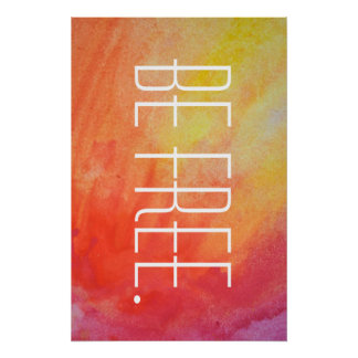 Be Free Tie Dye Poster. Poster