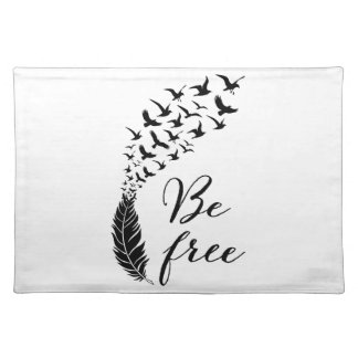 Be free with feather and birds placemat