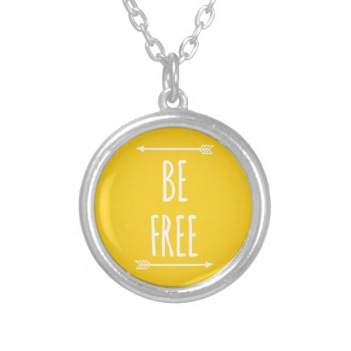 be free, word art, text design custom necklace