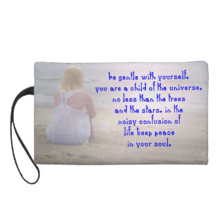 Be gentle with yourself. wristlet clutch