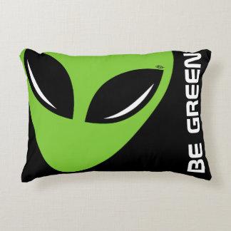 Be Green Alien Decorative Cushion
