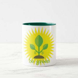 Be Green Two-Tone Mug