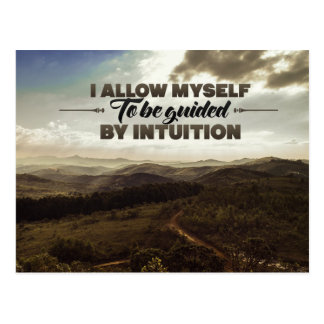 Be Guided By Intuition Postcard