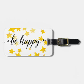 Be Happy 3 Luggage Tag