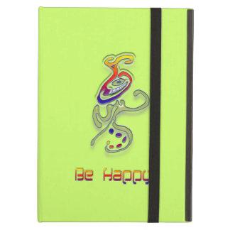 Be Happy Alien, Abstract iPad Folio Case