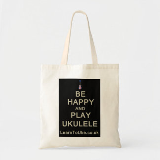 Be Happy and Play Ukulele Tote Bag