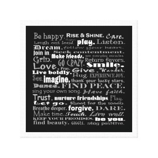 be happy art canvas prints