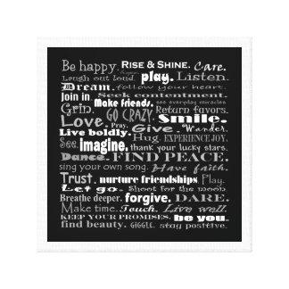 be happy art canvas print