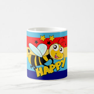 be happy,bee happy,funny mug
