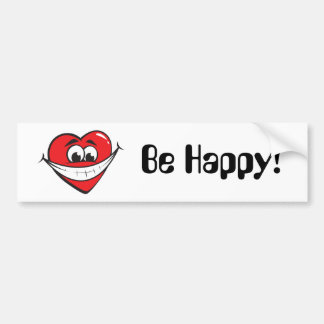 Be Happy Bumper Sticker