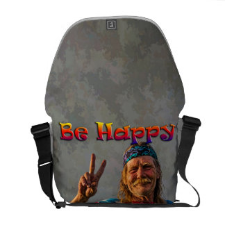 BE HAPPY COURIER BAG