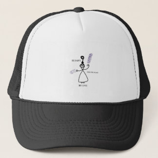 Be Happy Feel peaceful Be Love Trucker Hat