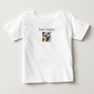 Be Happy Flowers Art Baby Jersey T-Shirt