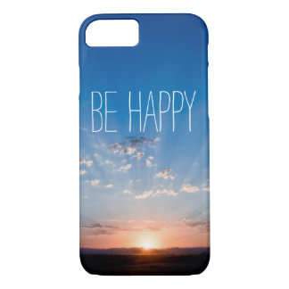 Be happy inspirational quote motivational clouds iPhone 7 case