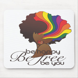 Be Happy Mouse Pad