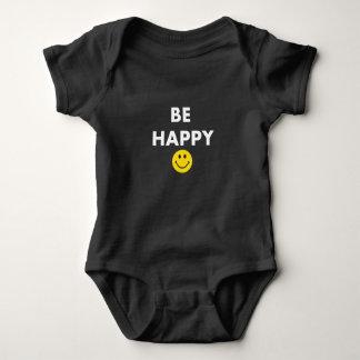 Be Happy Not Crappy Baby Bodysuit
