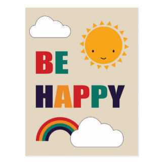 Be Happy Postcard
