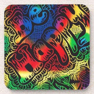 Be happy rainbow coaster
