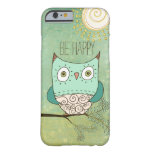 Be Happy Retro Bohemian Owl