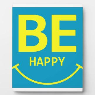 Be happy smile photo plaque