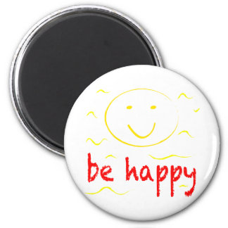 be happy smilies magnet