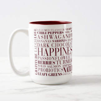 Be Happy Two-Tone Coffee Mug