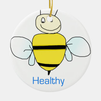 Be healthy round ceramic decoration