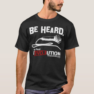 Be Heard Black Ron Paul Shirt