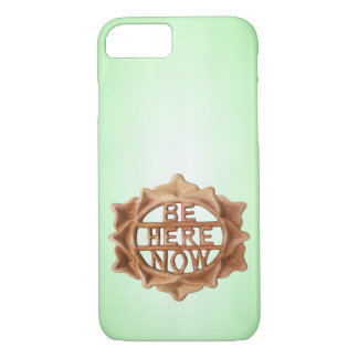 Be Here Now on Green with Inner Glow iPhone 8/7 Case