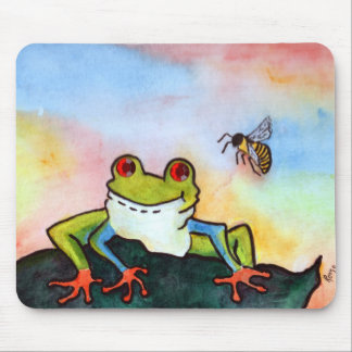 Be Hoppy Frog Mouse Pad