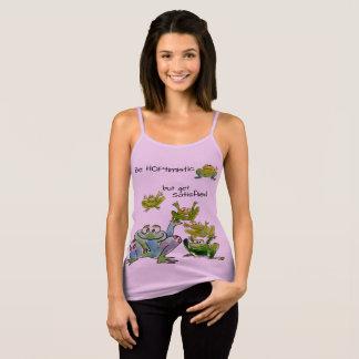 Be Hoptimistic Get Satisflied Frogs Violet Singlet