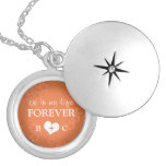 Be in my life FOREVER - Orange Silver Locket