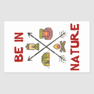Be In Nature Rectangular Sticker