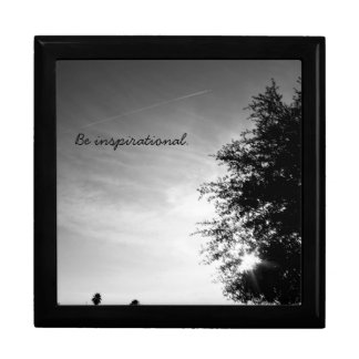 """Be inspirational"" Large Square Gift Box"