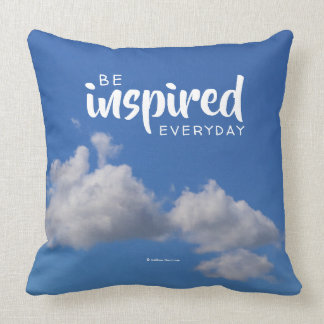 Be Inspired Everyday: Fluffy Clouds in a Blue Sky Cushion